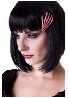 Banned pinzetta per capelli a mano scheletrica color rosa pesca