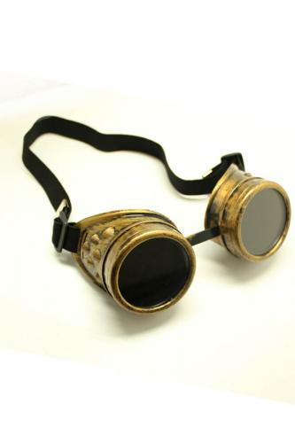 Phaze goggle steampunk bronzo