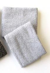 Polsino lungo grigio glitter