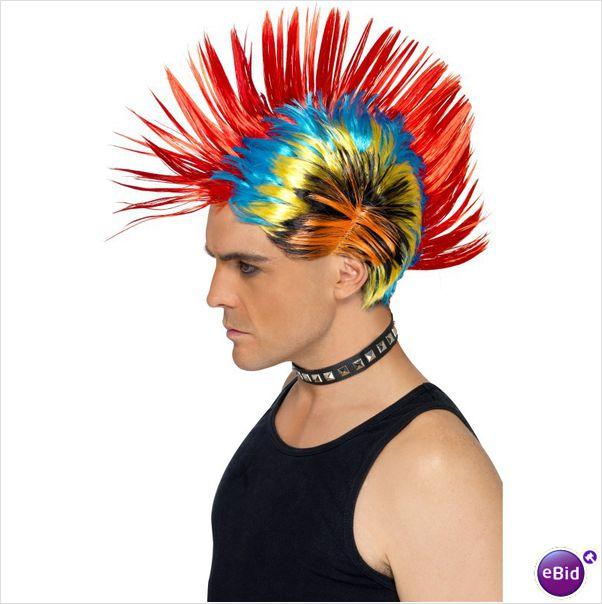 Parrucca Cresta Punk Multicolor