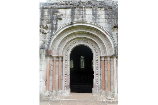 Dryburgh Abbey chapter house doorway