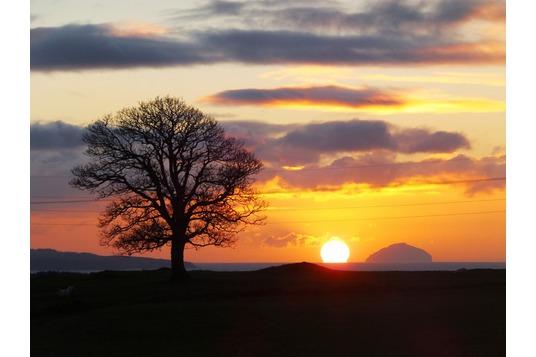 Ailsa Craig, sunset from Craigie