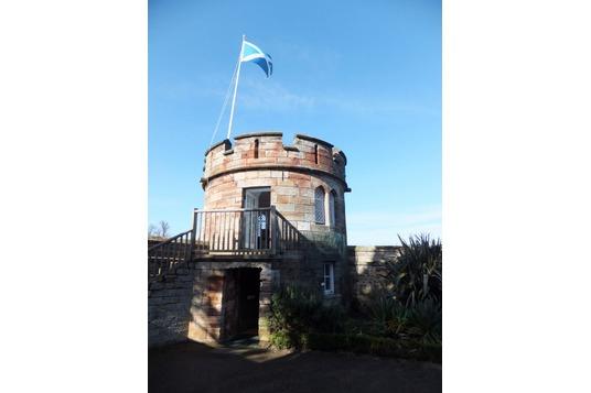 Dirleton Castle gazebo (museum)