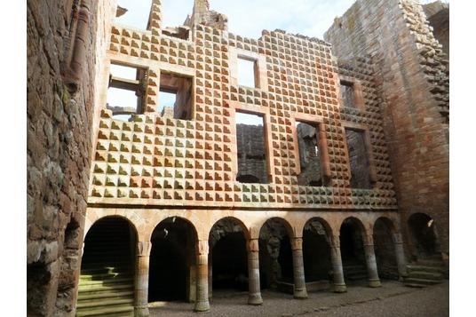 Crichton Castle ruin Pathhead