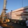 Anlieferung Dübelholzdecke der Firma Weihele