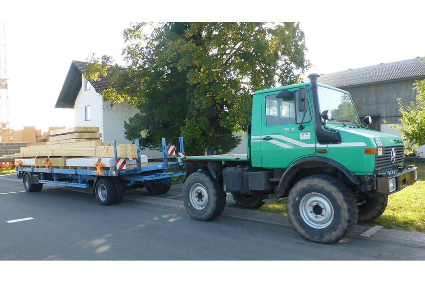 Anlieferung der Holzrahmenbauwände