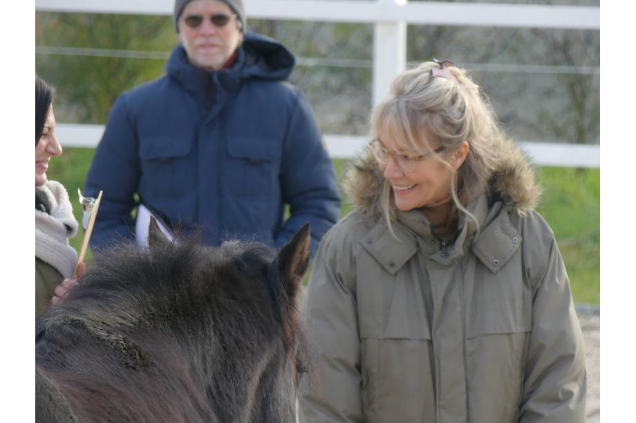 Steffi als Coachee in einem Pferdecoaching