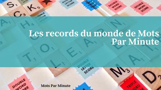 Les record du monde de mots par minute