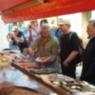 Foto Gruppe auf dem Fischmarkt