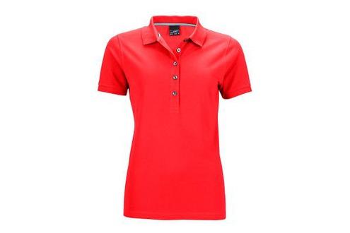 Rotes Poloshirt in Pimaqualität, JN707