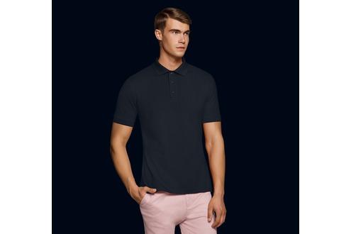Schwarzes Herrenpoloshirt, HAKRO No 801