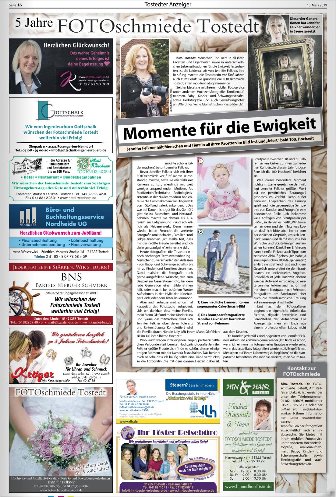 Wochenblattbericht 13.03.2019