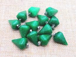 Péndulo piedra Facetada de Cuarzo verde