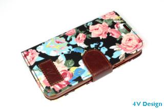 TRENDY FLOWER - Samsung Galalxy S5 - colore NERO - 24,90€ - Spedizione Gratuita