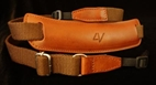 Large Lusso Neck Strap Brown-Brown