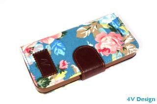 TRENDY FLOWER - iPhone 5-5s - colore AZZURRO - 24,90€ - Spedizione Gratuita