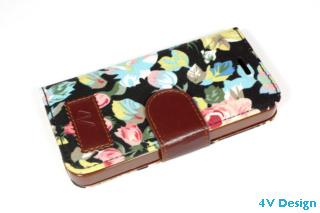 TRENDY FLOWER - iPhone 5-5s - colore NERO - 24,90€ - Spedizione Gratuita