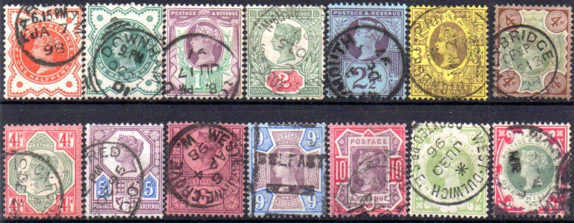 Queen Victoria 1887/1900 Jubilee Very Fine Used Set of 14