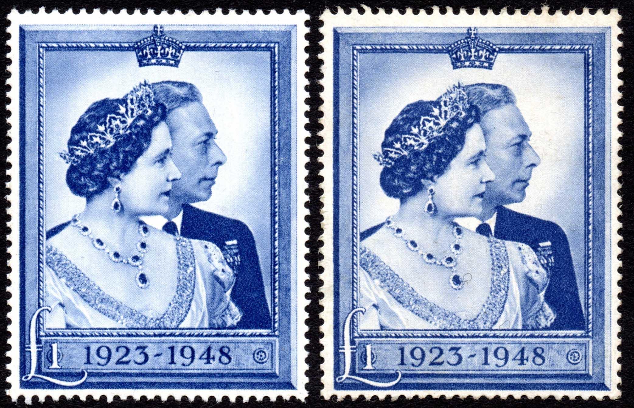 1948 £1 SILVER WEDDING UMM, LMM & UNUSED
