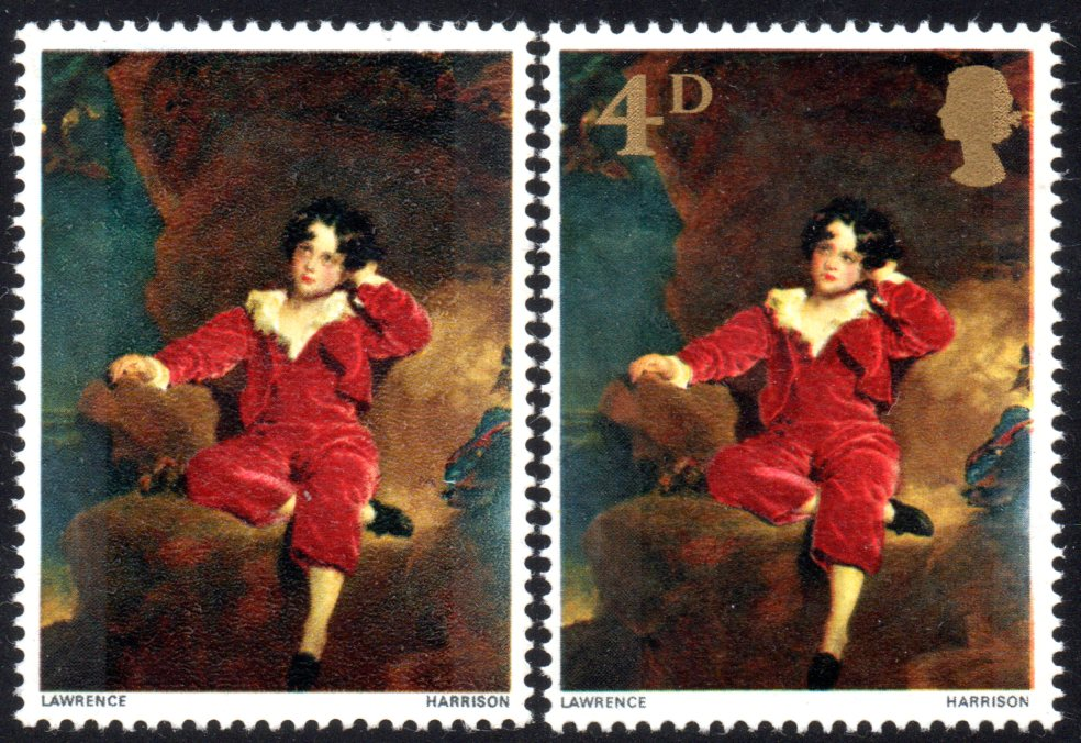 1967 4d Painting of 'Master Lambton' Superb Unmounted Mint Gold Omitted Variety