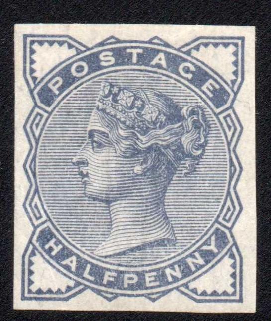 1884 Halfpenny Slate-blue Imprimatur