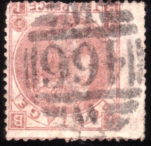 1867 10d Pale Red-brown Inverted Watermark