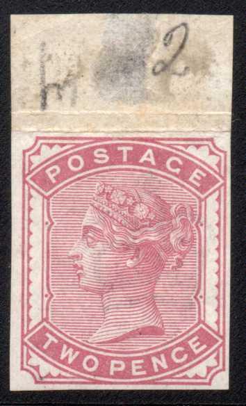 1880 2d Rose Imprimatur