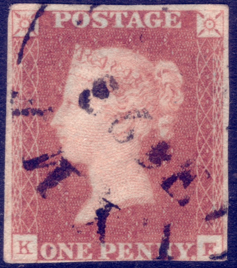 1841 1d Red Scarce Lyme (Regis) Town Date Cancel - Plate 27