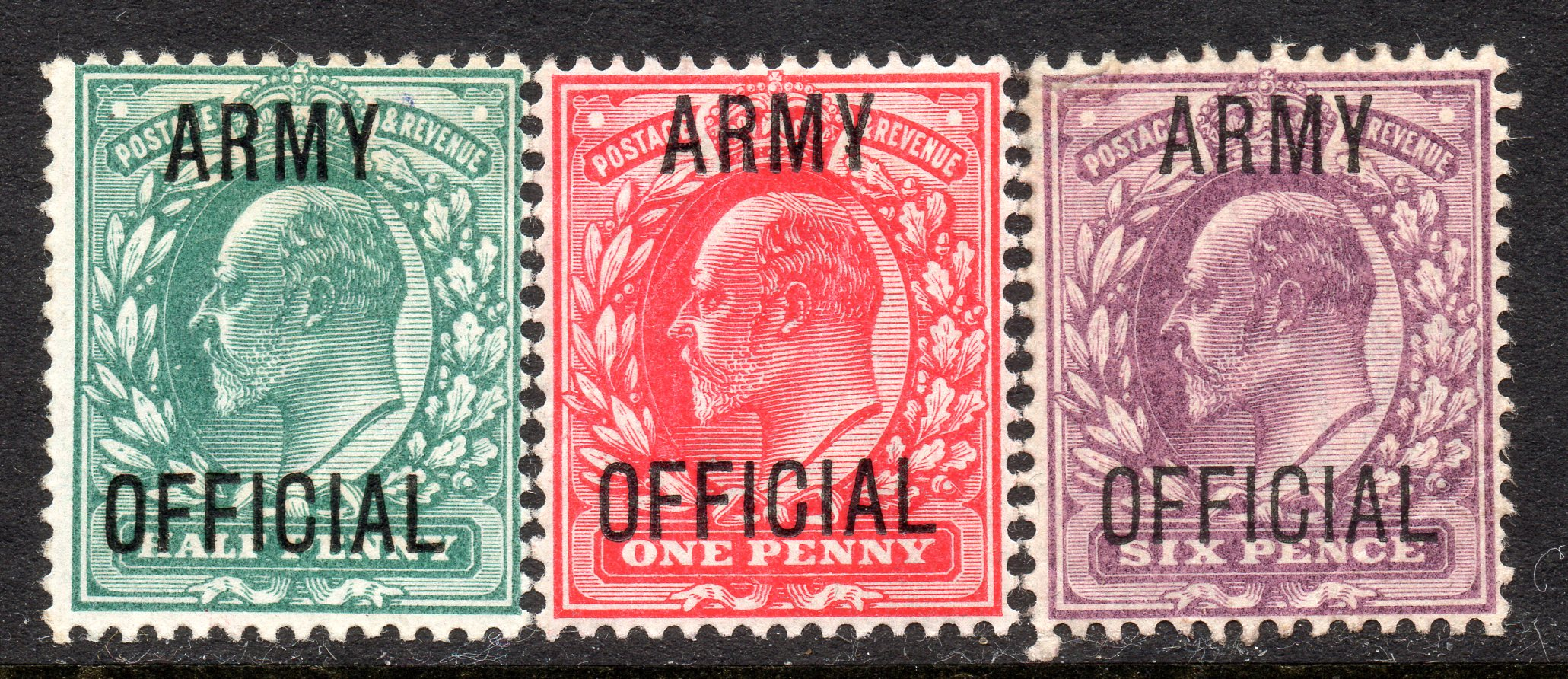 1902 Edward Mint ARMY OFFICIAL Set