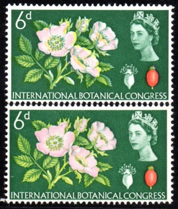 1964 Botanical 6d Mint Apple Green Shift Variety