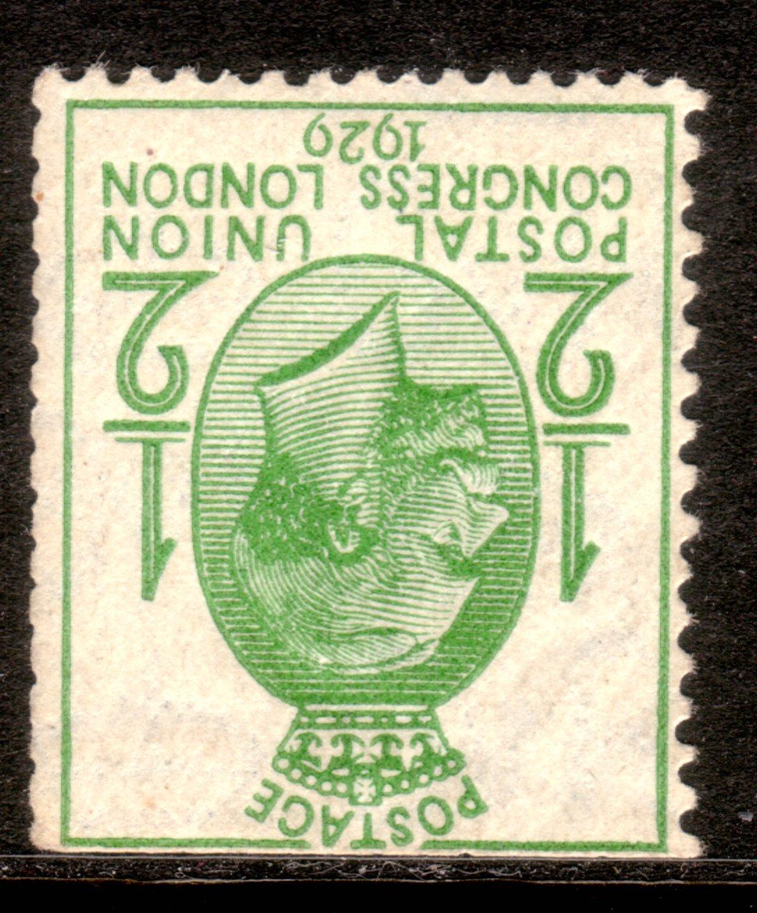 1929 PUC ½d UM Ex-booklet Inverted Watermark
