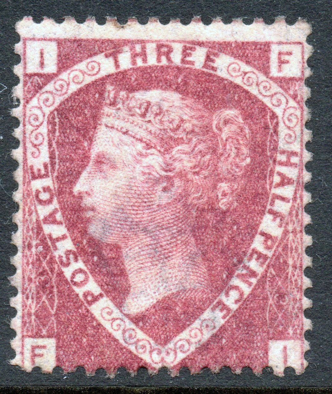 1870 1½d Lake-red Plate 3 Fresh Mint