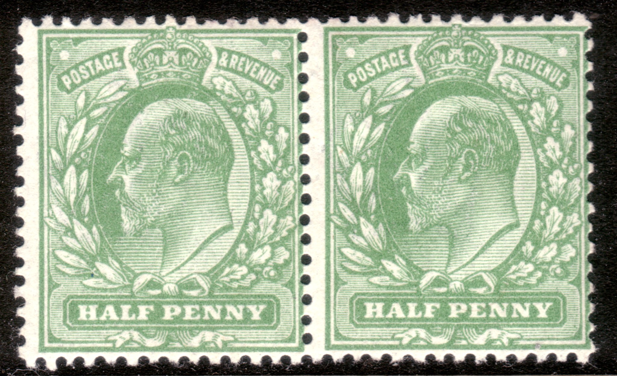 1911 ½d Harrison UM SG Specilaised M3(2)m Variety in Pair - SOLD