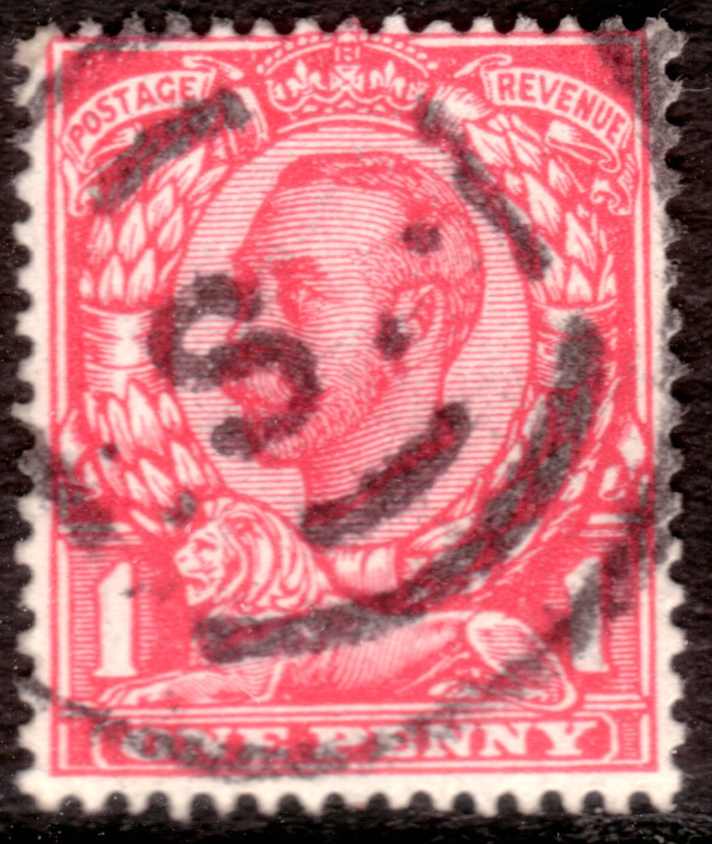 1912 1d downey experimental cancellation