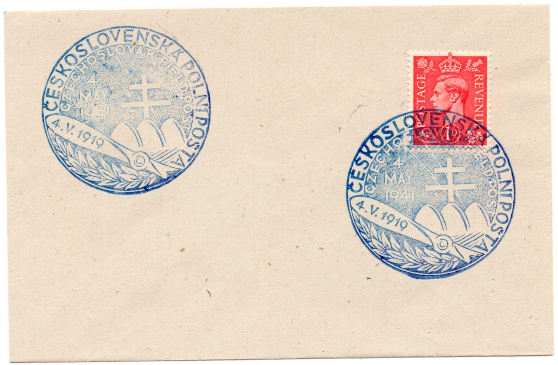 1941 1d ON CESKOSLOVENSKA POLNIPOSTA COVER