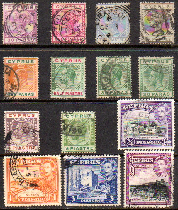 CYPRUS COLLECTION USED Victoria 1880s to George VI
