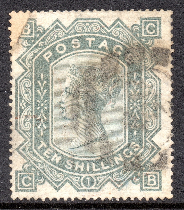 1878 10s Greenish Grey Light Cancel - SOLD