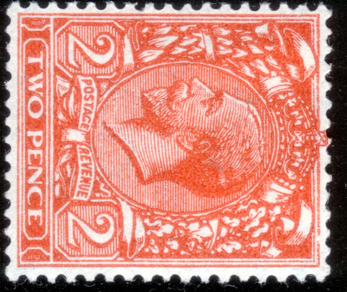 1924 2d Die II Deep Orange Fresh Mint Sideways Wmk Frame Break Variety - SOLD