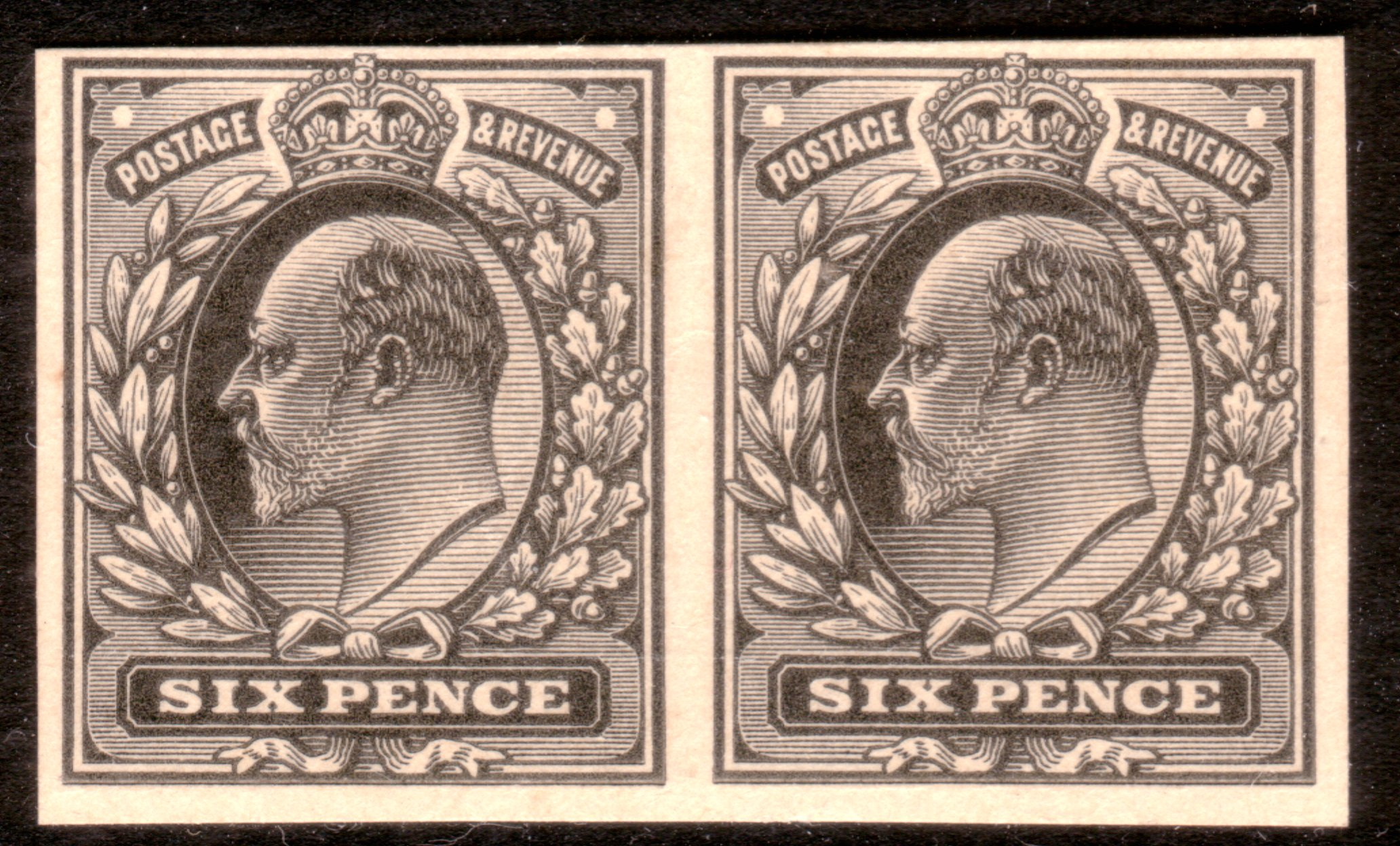 1902 6d Plate Proof Pair - SOLD