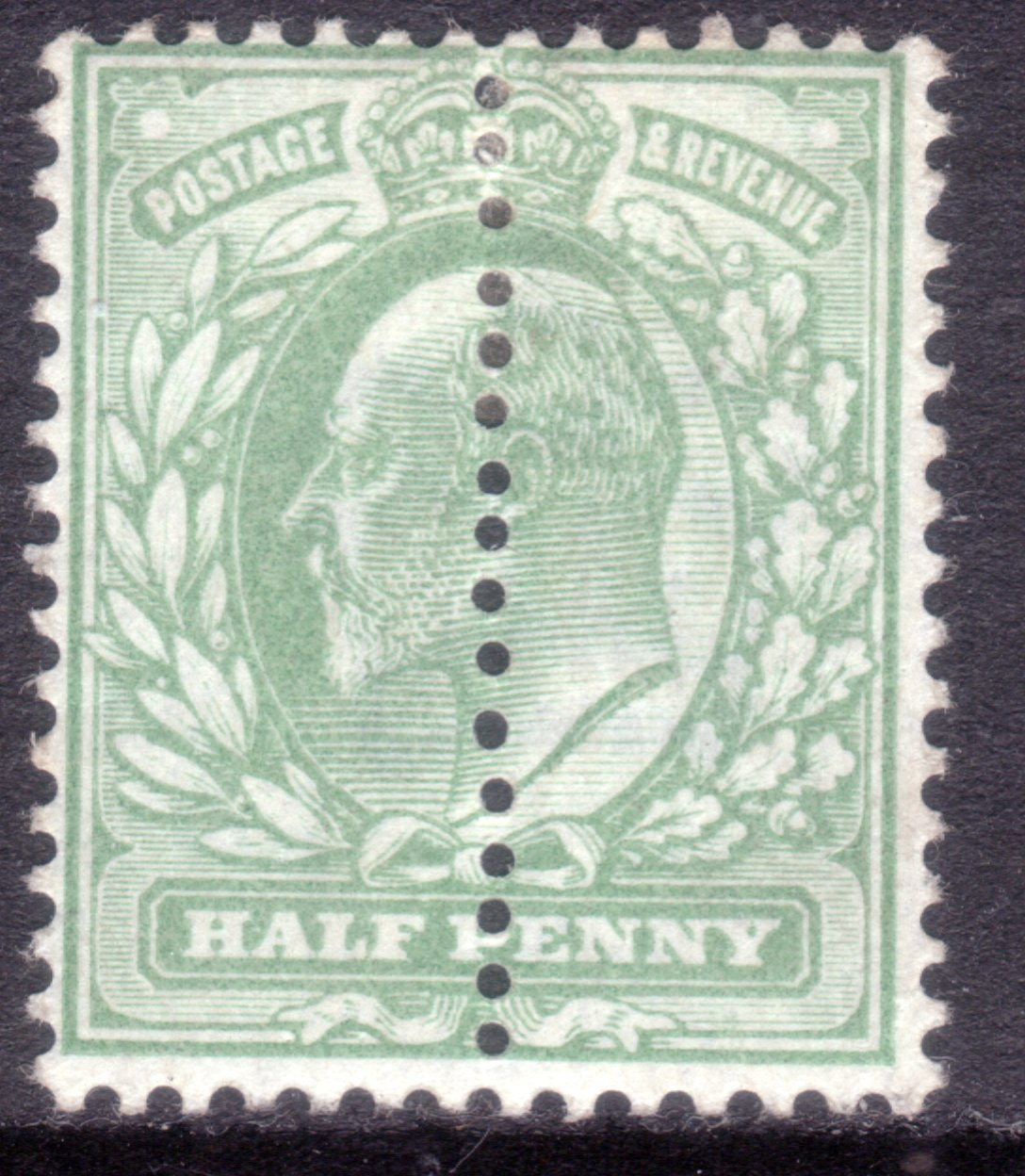 1904 ½d Yellowish Green Mint Perforation Variety