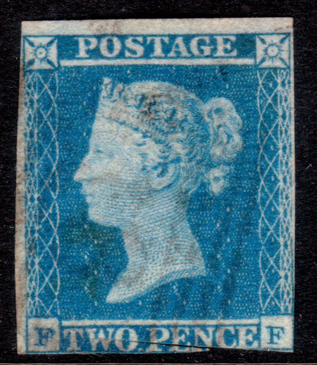1841 2d Blue SCARCE INVERTED WATERMARK