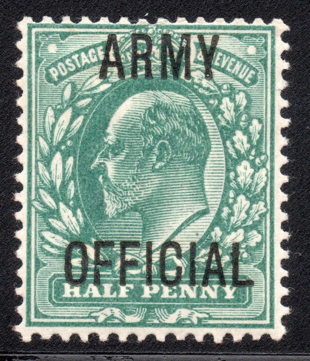 1902 ½d UM Blue-green MO19 Broken 'M' & 'F' Varieties