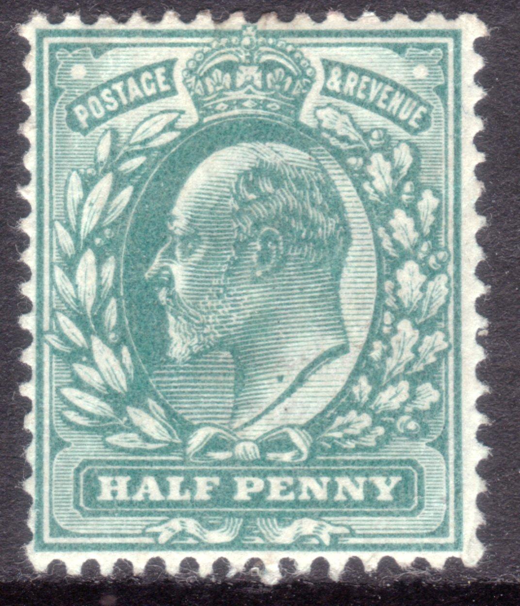 1902 ½d Blue-green Mint Variety