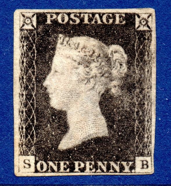 1840 1d Grey-black Plate 3 MINT