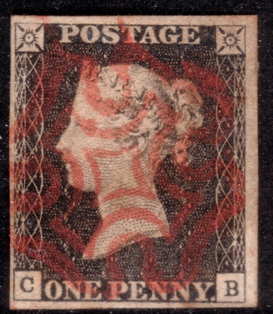 1840 1d Black Plate 2 - SOLD