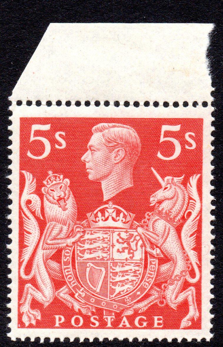 1939 5s Red UM Marginal - SOLD