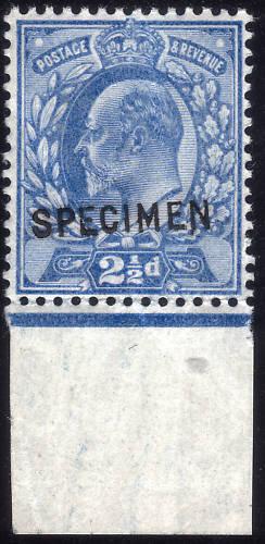 1902 2½d Ultramarine SPECIMEN