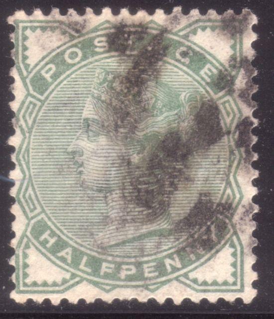 1880 ½d Green Thin Paper Variety