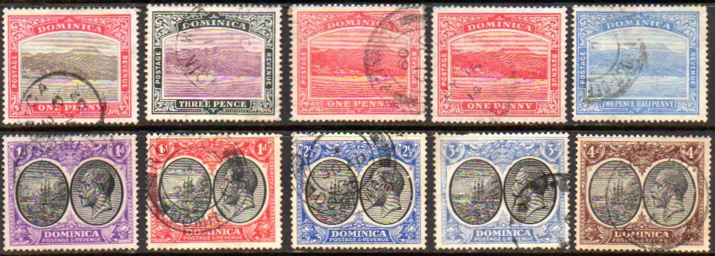 DOMINICA COLLECTION USED EdVII to GV (1906/1923)