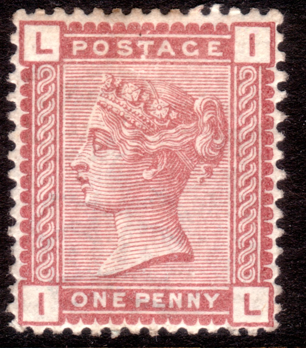 1880 1d Venetian Red Mint with Variety Dot Below 'T' of 'POSTAGE'